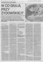 """Pierwsze część artykułu Violetty Szostak """"W co grają przy Żydowskiej?"""" (GW, 26.06.2015)"""