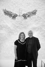 Saskia Boddeke i Peter Greenaway, twórcy wystawy. Fot. Judisches Museum/Berlin