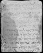 Strona z pamiętnika Rywki Lipszyc