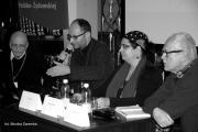 Panel współczesnej prasy żydowskiej. Od prawej: Zbigniew Pakuła, Bogna Skoczylas, Piotr Piluk i Eli Barbur.