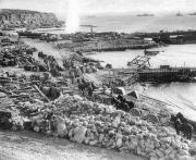 Plaża w Helles przed ewakuacją (7.01.1916)