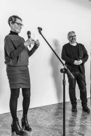Kuratorzy wystawy: Adina Bar-On i prof. Marek Wasilewski